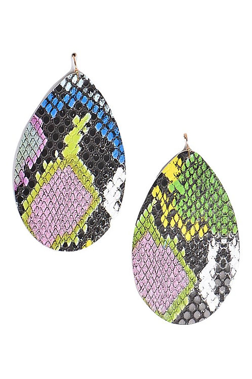 Multi Snake Print Earrings
