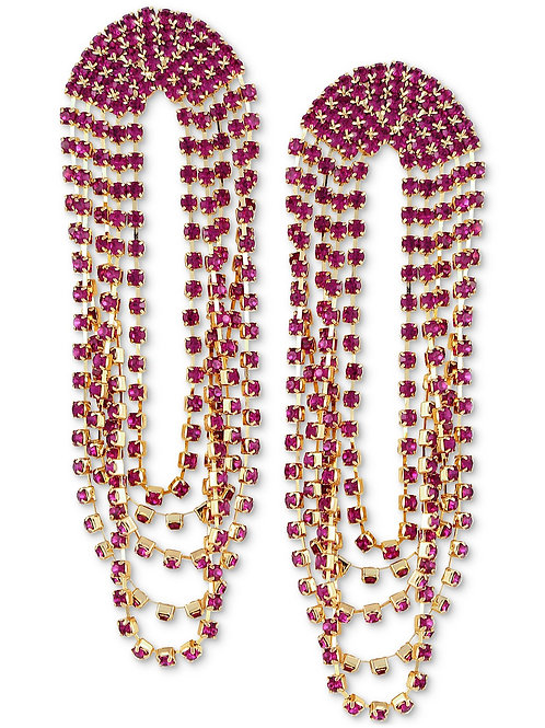 Fuchsia Drape Statement Earrings