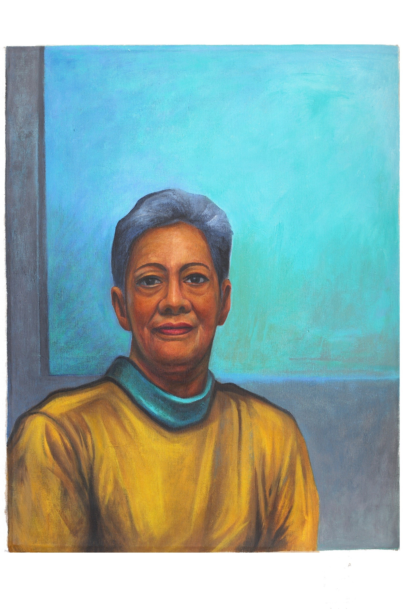 Lady on Blue, 2008