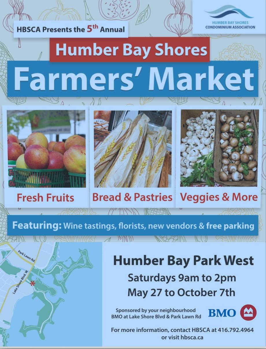 humberbay farmers' market poster