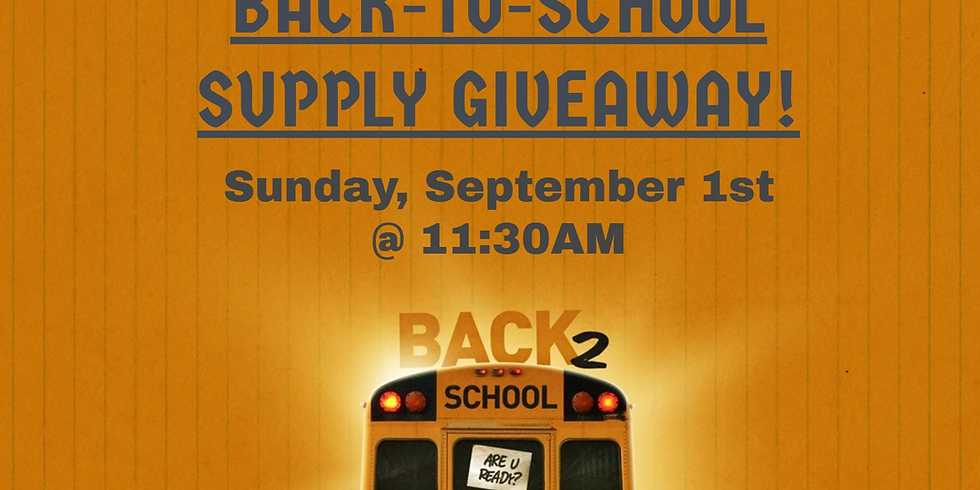 Back-To-School Supply Giveaway