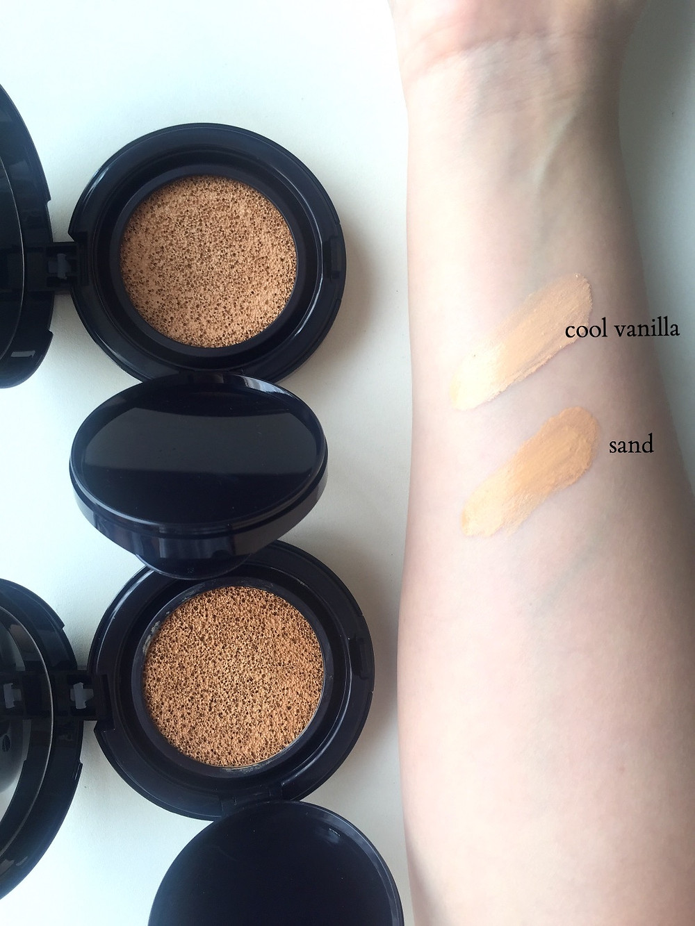 Swatches of 2 shades