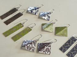 wallpaper pattern earrings