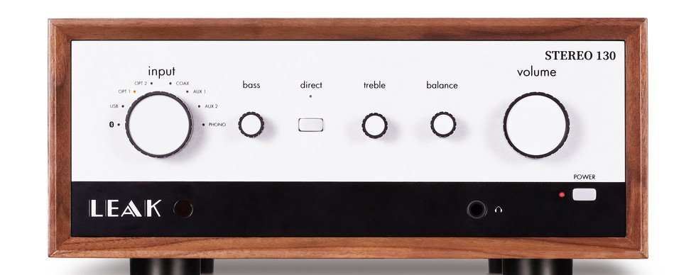 Stereo 130 Standard Walnut Front Square.