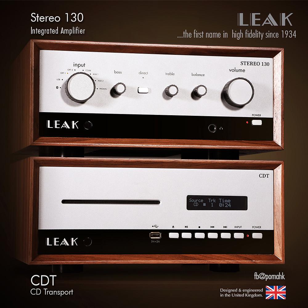 LEAK STEREO 130 揉合了典雅的 Art-Deco 裝飾藝術風格,復刻 LEAK 著名的 STEREO 30 擴音機傳承