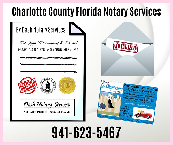Notary Port Charlotte Florida -Dash Nota