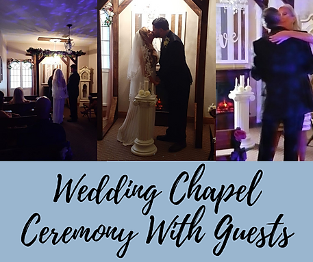 Wedding Chapel Ceremony With Guests And
