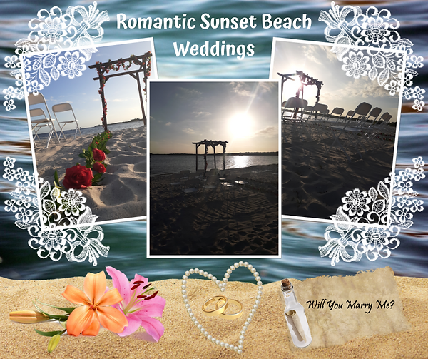 Romantic Sunset Beach Weddings Port Char