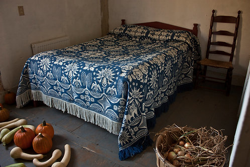 Figured Coverlet—Campbell's Rose and Stars