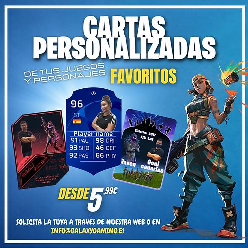 Cartas de videojuegos personalizadas