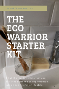 Eco Warrior Starter Kit - a blog post on everyday-items that can easliy be switched and implemented into an eco-friendlier lifestyle