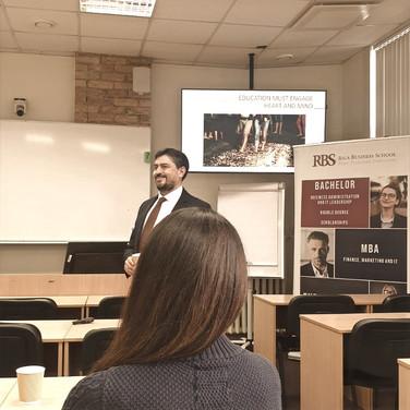 Riga Business School event, 13 Feb 2020