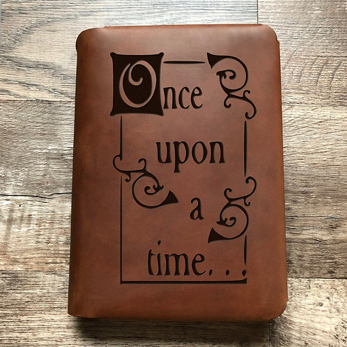Upon On A Time Travel Cut - Refillable Leather Folio