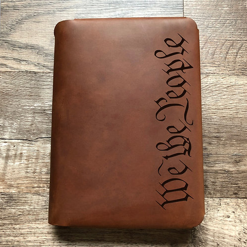 We The People Travel Cut - Refillable Leather Folio