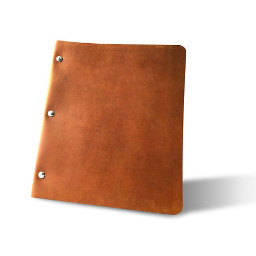 Wide Cut - Refillable Leather Binder