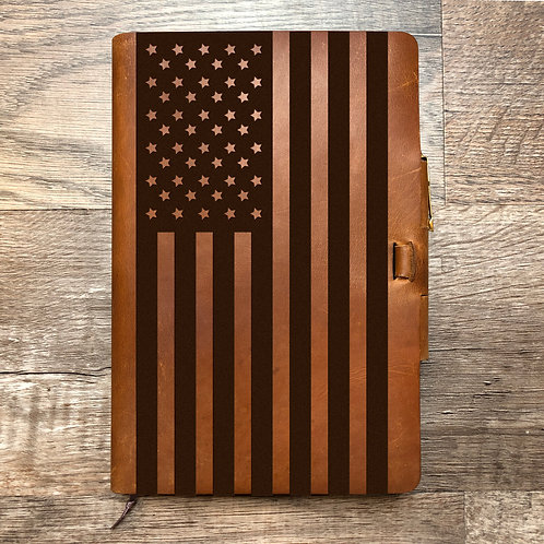 American Flag - Large - Refillable Leather Journal
