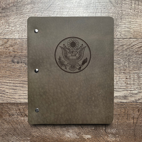 Great Seal - Large - Refillable Leather Binder