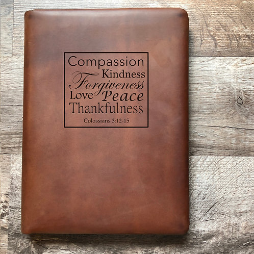 CHS Gala Donation- Colossians 3:12-15 - Executive Cut - Refillable Leather Folio
