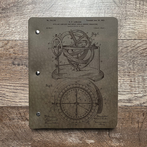 Compass - Refillable Leather Binder