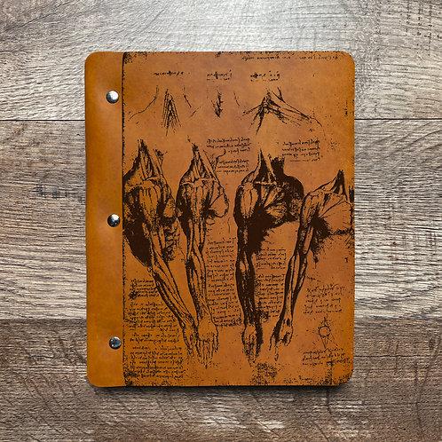 Da Vinci - Anatomy - Refillable Leather Binder