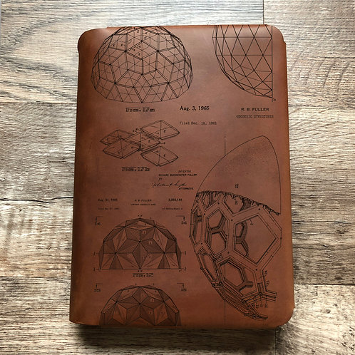 Bucky Ball - Geodesic - Travel Cut - Refillable Leather Folio
