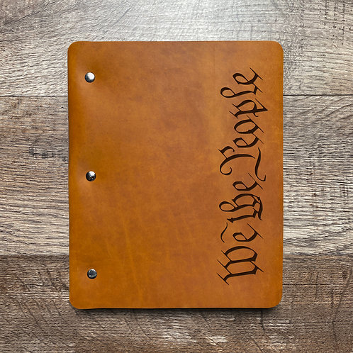 We The People - Large - Refillable Leather Binder