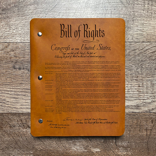 Constitution - Refillable Leather Binder