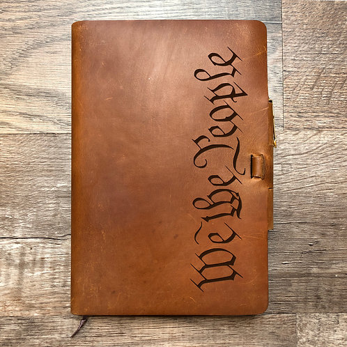 We The People - Refillable Leather Journal