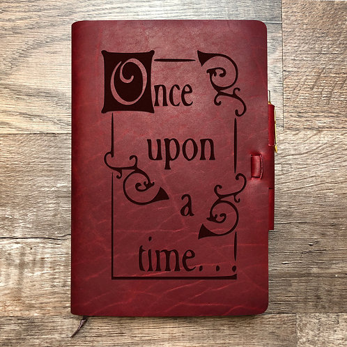 Once Upon A Time - Refillable Leather Journal