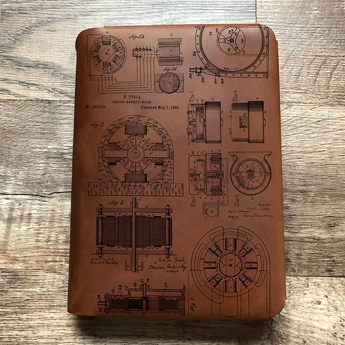 Nikola Tesla Travel Cut - Refillable Leather Folio