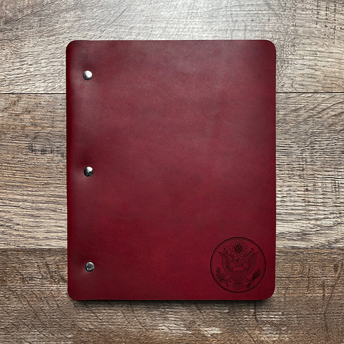 Great Seal - Small - Refillable Leather Binder