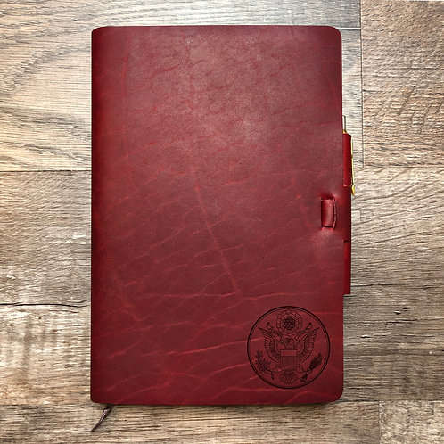 Great Seal - Small - Refillable Leather Journal