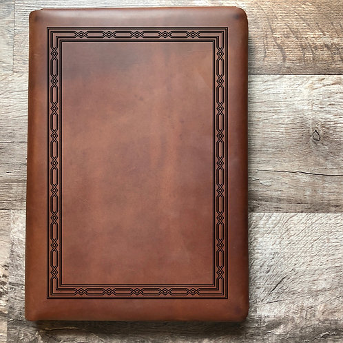 Classic Weave Travel Cut - Refillable Leather Folio