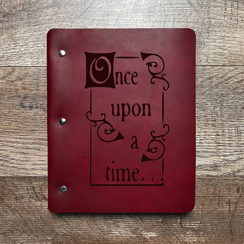Once Upon A Time - Refillable Leather Binder