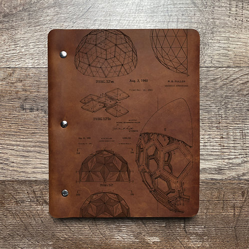 Bucky Ball - Geodesic - Refillable Leather Binder