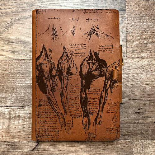 Da Vinci Anatomy - Refillable Leather Journal