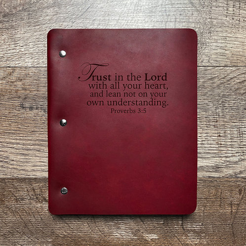 Trust in the Lord - Refillable Leather Binder
