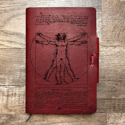 Da Vinci Vitruvian - Refillable Leather Journal