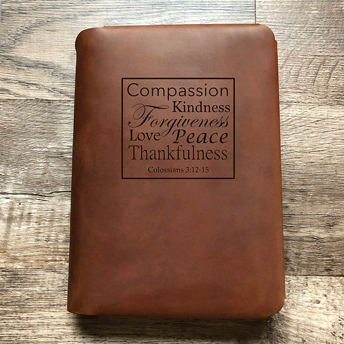 Colossians 13:12-15 - Travel Cut - Refillable Leather Folio