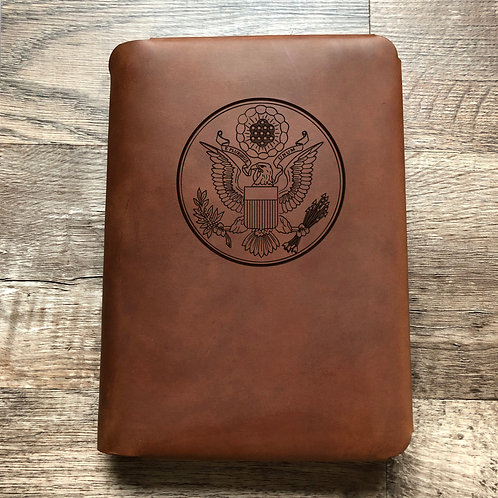 Great Seal - Large - Travel Cut - Refillable Leather Folio