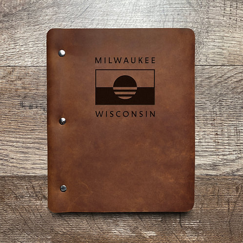 People's Flag of Milwaukee - Refillable Leather Binder