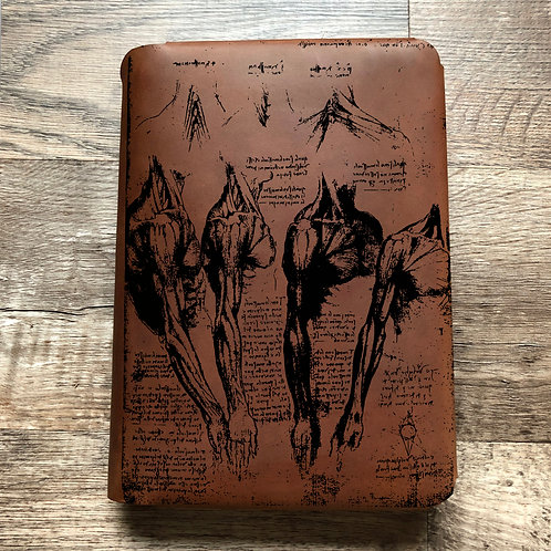 Da Vinci Anatomy Travel Cut - Refillable Leather Folio