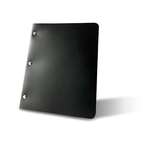 PRE-ORDER (3-4 weeks) Onyx Slim Cut - Refillable Leather Binder