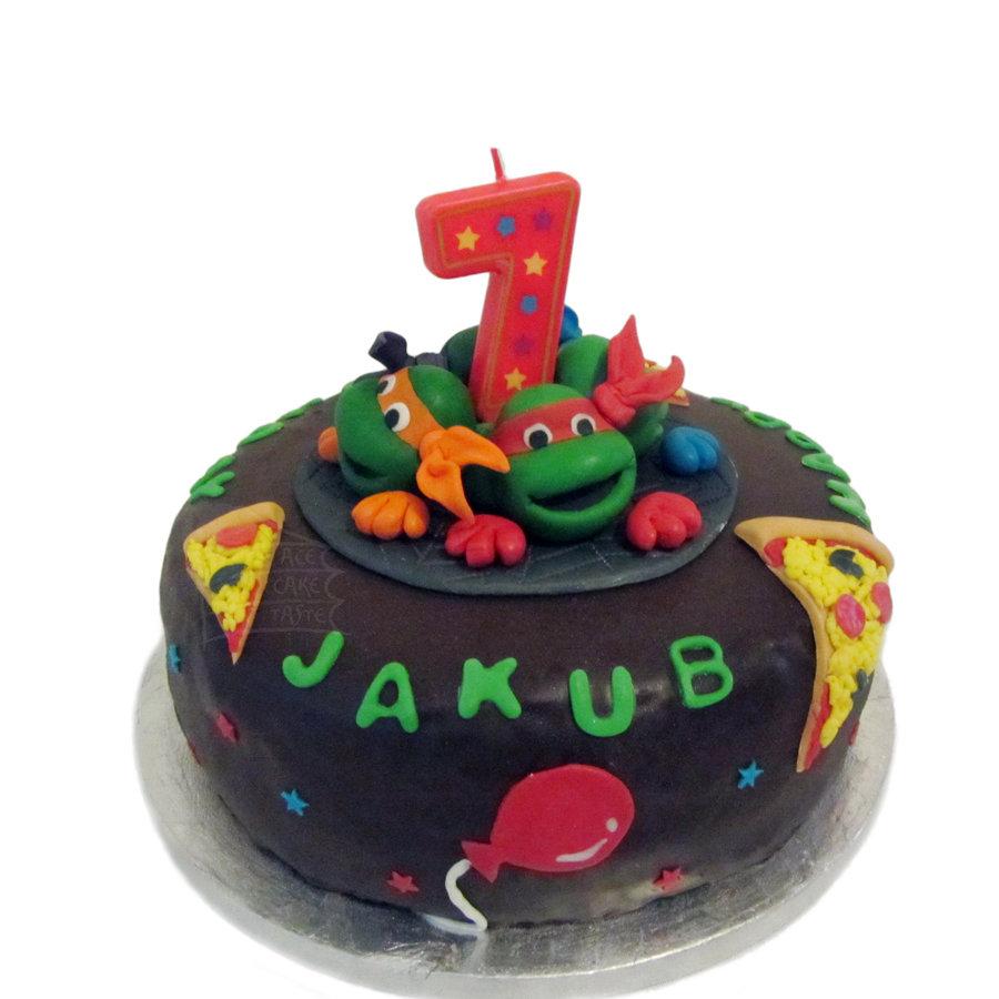 Enjoyable Ninja Turtles Birthday Cake Acecaketaste Funny Birthday Cards Online Necthendildamsfinfo
