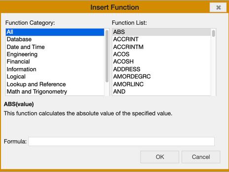Tabellenkalkulation : Berechnungsformel