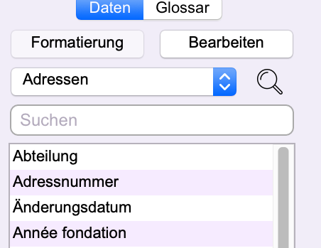 Textverarbeitung: Einfügen von Office Maker-Daten