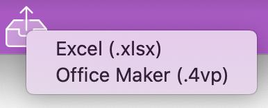 Tableur : échange de données avec Microsoft Excel