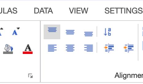 Spreadsheet : neue Benutzeroberfläche