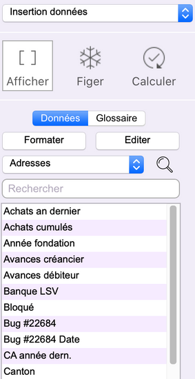 Traitement de texte : insertion de données Office Maker