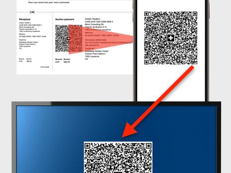 Einscannen von QR-Rechnungen mit einem Smartphone